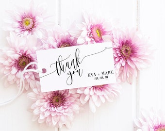 Thank You Rubber Stamp, Wedding Thank You Stamp, Custom Wedding Stamp, Custom Wedding Favor Stamp, Personalized Thank You Stamp No8