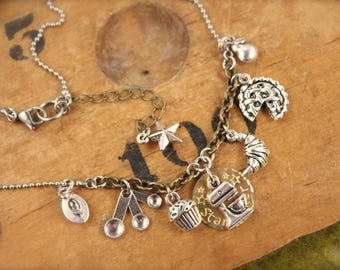 Great British Baking Show Bake Off Inspired Charm Necklace