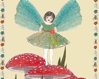 Potato printed 'Fairy' greeting card