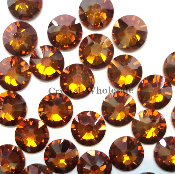 065884ff2b20 Crystal Copper (001 COP) Swarovski 2058 Xilion  New 2088 Xirius 30ss  Flatbacks No-Hotfix Rhinestones 6.4mm ss30    FREE Shipping