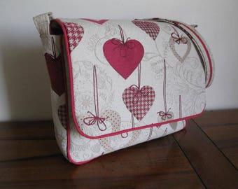 BAG pattern hearts tote bag