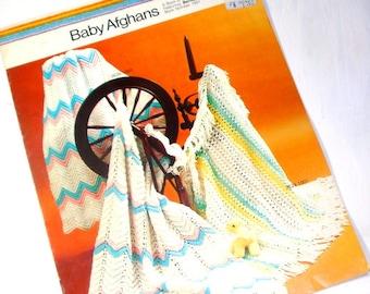 Baby Afghans Instructional Booklet, Knitting, Crochet, Bernat  (268-15)