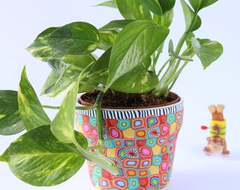 Colorful plantercool  gift-indoor plant pot- plant holder- Passover hottest  gifts- indoor flower pots-indoor planter-colorful plant pot
