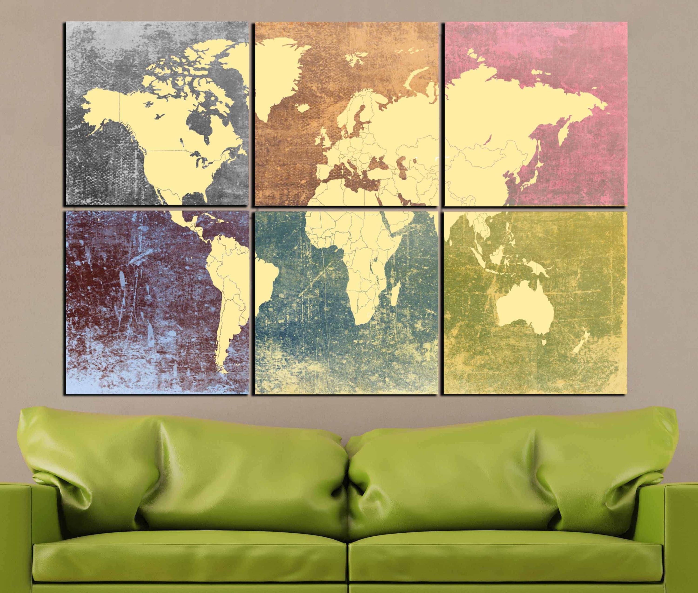 Beautiful Decorative Wall Maps Frieze - Art & Wall Decor - hecatalog ...
