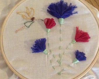 Fairy Garden - textile art