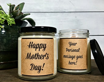 Happy Mothers day candle, Mothers day gift, Mothers day candle, Gift for mom