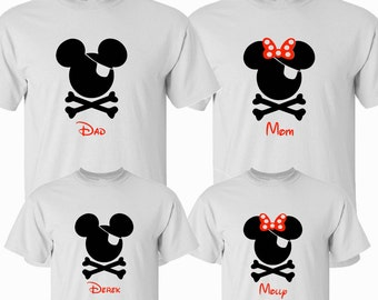 SALE!! Pirate Family Vacation Shirts, Matching Pirate Night Shirts, Disney Family Vacation, Disney Cruise, Disney Family Shirt