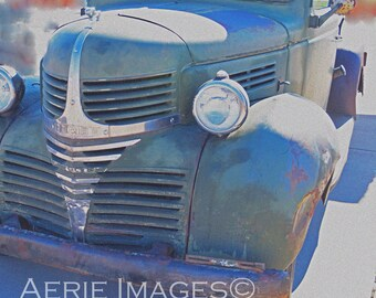 Vintage Dodge Pickup Truck, Color Altered Photo 8x10 or 5x7