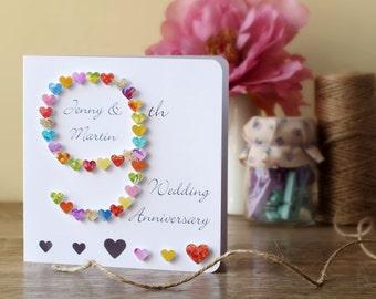10th wedding anniversary card handmade personalised tenth 9th wedding anniversary card handmade personalised ninth anniversary card personalized husband wife card 9 wedding anniversary bhan09 m4hsunfo