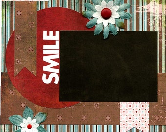 Smile - 12x12 Premade Scrapbook Page