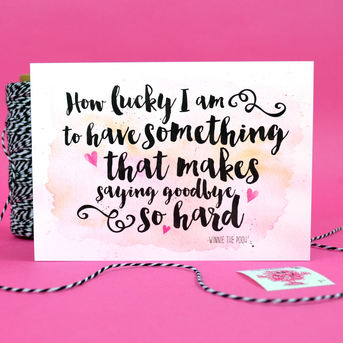 Goodbye leaving card winnie the pooh quote how lucky i am zoom kristyandbryce Image collections