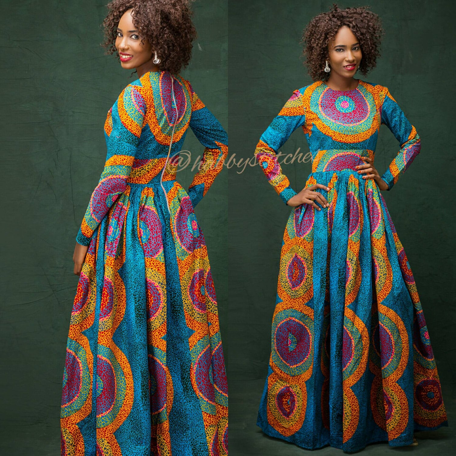 Sandra maxi dress with pockets african dress long african zoom jeuxipadfo Images