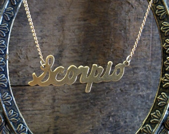 Scorpio Astrological Sign Necklace