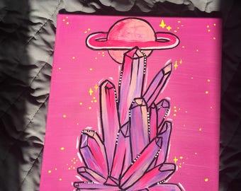 Crystal Dreams Original Acrylic Paining on Canvas