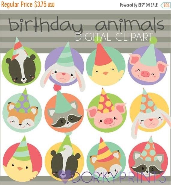 Birthday Animals Clipart