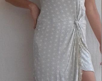 Tube Short dress/skirt japan hemp print cream