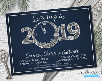 New Year's Eve Invitation, New Year's Party Invitation, Holiday Party Invitation, New Years Eve Party, Printable Party Invitation