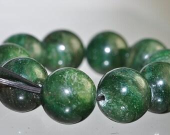 10 Pcs 12mm African GREEN AVENTURINE Round Beads Pendant -I0569E