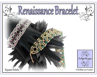 Tila Beading Pattern, Tutorial, Bracelet - RENAISSANCE
