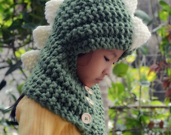 Dino Cowl Hooded Scarf