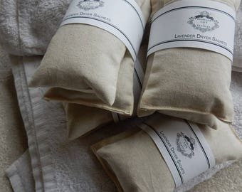 Eco Friendly Lavender Dryer Sachets/Bundle of Two/Mothers Day gift