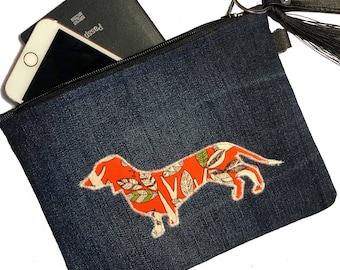 Lilly: Dachshund Sausage dog clutch pouch purse