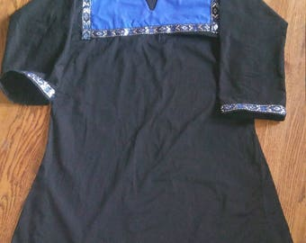 Blue and Black Medieval Tunic