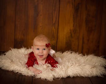 Christmas Photography Romper,Red Sequinned,Stretch,In 3 styles,Newborn Xmas Romper,Low Back,Handmade & RTS.Ships worldwide.Cake Smash Shoot