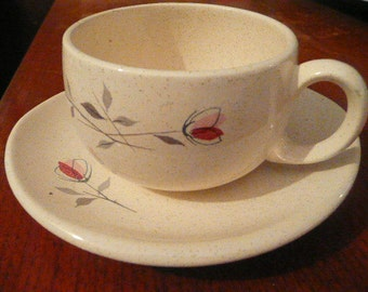 Set of 3 Franciscan Cups and Saucers Rare Style with Oval Saucers so collectible but more importantly...sweet.