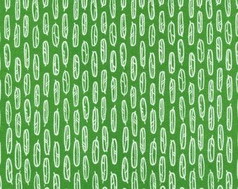 Organic Fabric // Fat Quarter // Feather Leaf Green // Yoyogi Park // Cloud 9