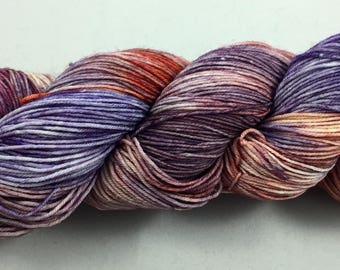 hand dyed sock yarn, mulit-colorway MINERAL, fingering weight, superwash merino wool and nylon, 4 ply