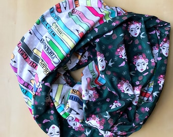 Frida Kahlo + Art Supplies Infinity Scarf - Made to Order
