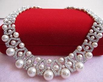 Wedding Necklaces Bridal Jewelry Set Wedding Jewelry Bridal Necklaces Swarovski Pearl Necklaces Wedding Jewelry Necklaces Bridal Accessories
