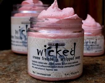 Whipped Soap Wicked 4 oz Creme Fraiche VEGAN