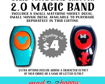 NEW 2.0 Magic Band Vinyl Color Decal Skin SOLID COLORS