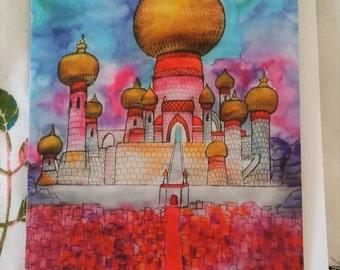 Jasmine's Castle Greetings Card