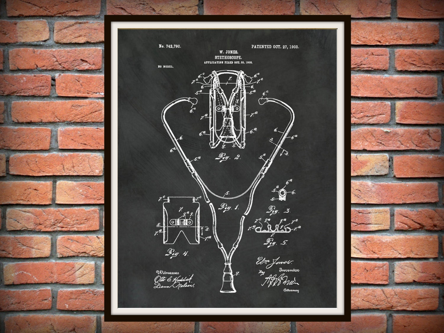 surgical instrument patent 1902 doctor office decor. 🔎zoom Surgical Instrument Patent 1902 Doctor Office Decor