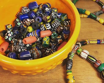 Vintage African Trade Beads - 15 assorted pieces
