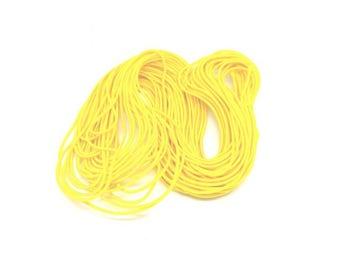 15 m round yellow 0.6 mm elastic thread