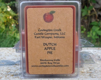 Dutch Apple Pure Soy Breakaway Melt. Fall Scent, Kitchen Scent, Thanksgiving Scent, Stocking Stuffer, Teacher Gift, Coworker Gift