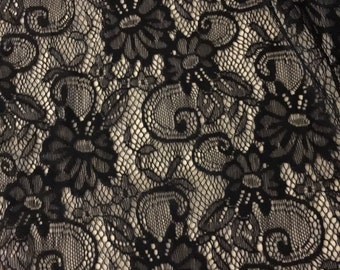 Stretch Floral  Lace Fabric