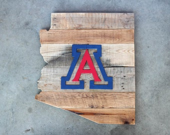 University of Arizona Wood Sign, Arizona Sign, University of Arizona Art, University of Arizona Decor, Arizona Wall Art, Arizona Wildcats