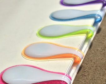 """PREORDER """"Summer Brights"""" Small Magnetic OliUclip 5-pack"""