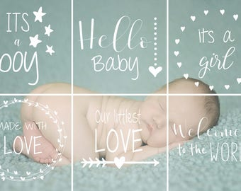 Photography Overlays-Newborn Overlays