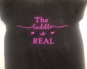 The cuddle is real- infant-toddler tshirt