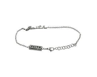 """Handwriting Bracelet """"Faith"""""""