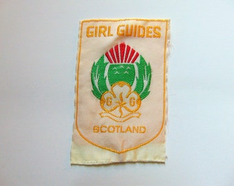 Vintage Girl Guide Scotland Scout Badge Patch c. 1970s