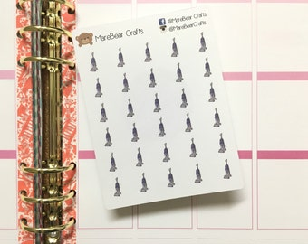 30 Vacuum Cleaner Stickers! Perfect for your Erin Condren Life Planner, Filofax, Kikkik, Plum Paper and other planner!
