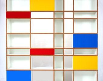 Purista Design Regal move Blue red Yellow de Stijl Mondrian