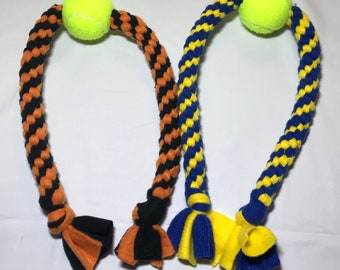 Long Tennis Ball Dog Toy By Happy Tail Dog Toys